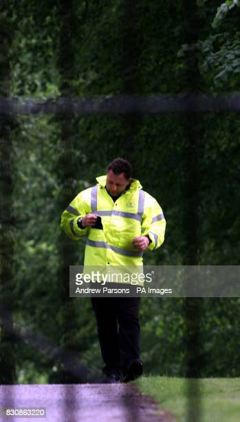 Security guards outside Coldhan Hall the new home to Claudia Schiffer and her partner film producer Matthew Vaughn They are due to be getting married