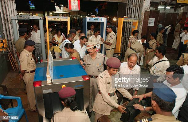 Security has been tightened after the train bomb blast at the Churchgate Station in Mumbai Maharashtra India