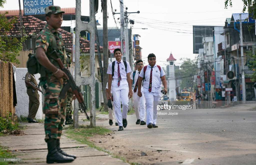 Schools Reopen In Sri Lanka After The Easter Attacks : News Photo