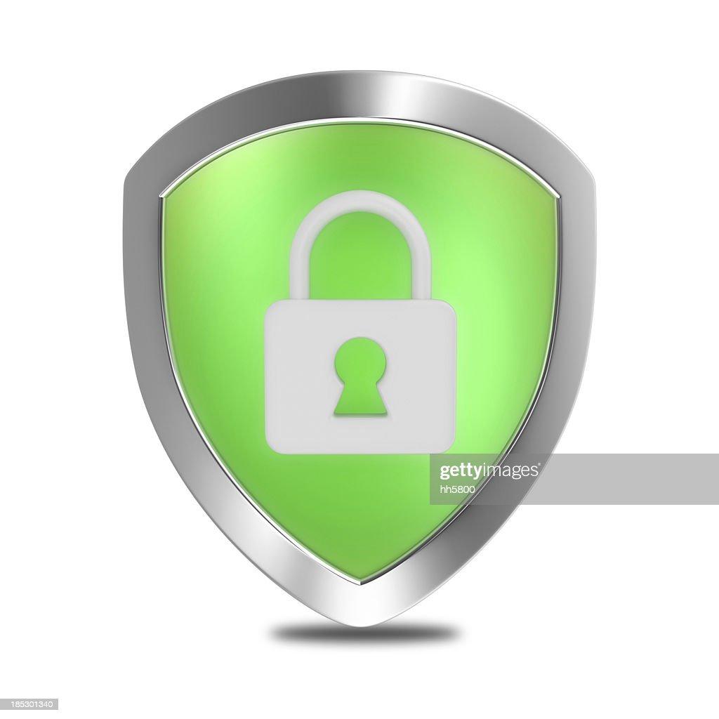 Security Lock Shield : Stock Photo
