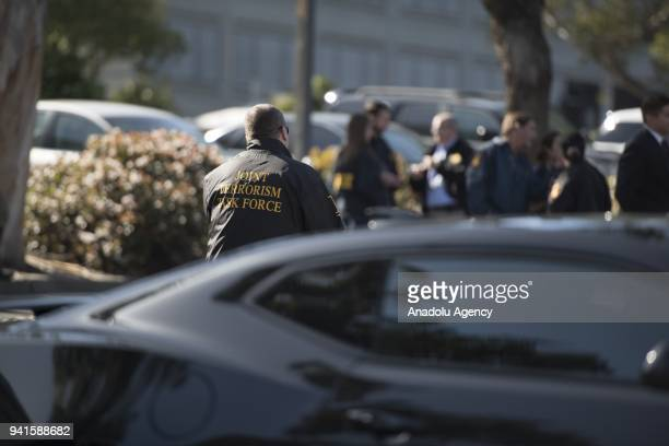 Security measures are taken after security forces responded to an active shooter at YouTube's California headquarters in San Bruno, California,...
