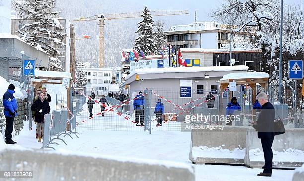 Security measures are taken at Davos ahead of the World Economic Forum annual meeting which will take off on 17th January bringing together business...