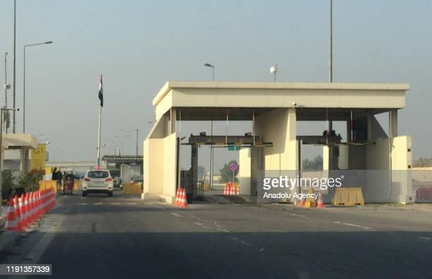 Security measures are taken at the entrance of airport after a drone strike near Baghdad International Airport killed Qasem Soleimani commander of...