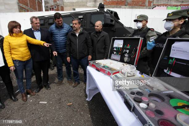 Security Minister Patricia Bullrich along with Senator Miguel Angel Pichetto gave a press conference of raiddrugsPatricia BullrichMiguel Angel...