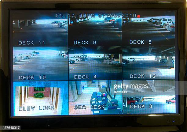 security monitoring screen - surveillance stock pictures, royalty-free photos & images