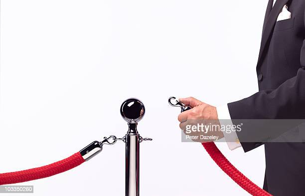 security opening rope barrier - cordon boundary stock pictures, royalty-free photos & images