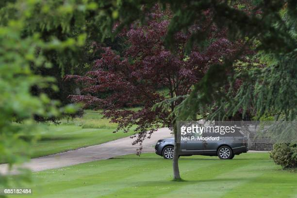 Security outside St Mark's Church ahead of the Wedding of Pippa Middleton and James Matthews on May 19 2017 in Englefield Berkshire