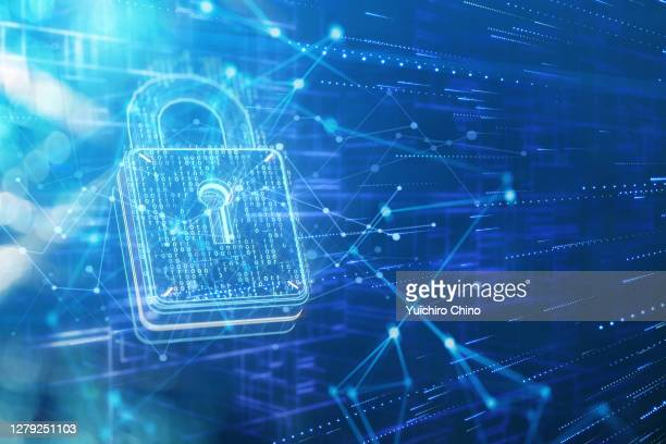 security padlock and network data - security stock pictures, royalty-free photos & images
