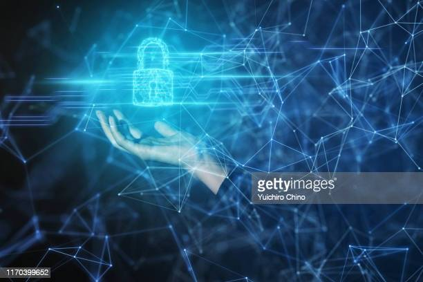 security padlock protection and network - data privacy stock pictures, royalty-free photos & images