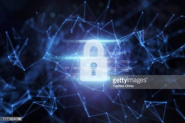 security padlock protection in network - data privacy stock pictures, royalty-free photos & images