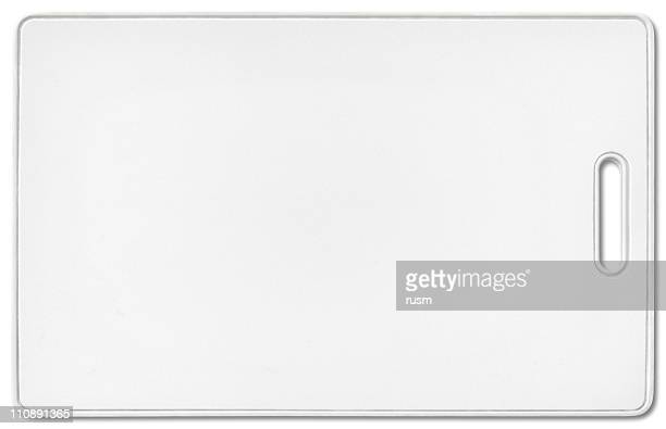 security pass with clipping path on white background - name tag stock photos and pictures