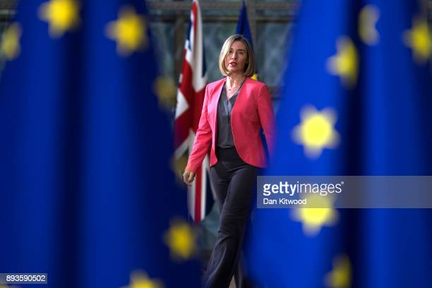 Security Policy and VicePresident of the European Commission Federica Mogherini arrives for the European Union leaders summit at the European Council...