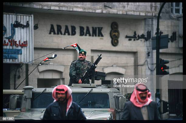 Security prepares to greet King Hussein January 19 1999 in Amman Jordan King Hussein returns after spending six months at the Mayo clinic in...
