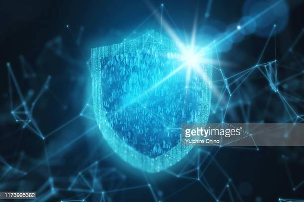 security protection shield - shielding stock pictures, royalty-free photos & images
