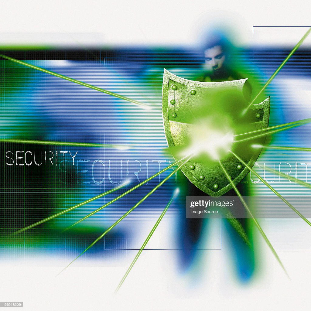 Security shield : Stock Photo
