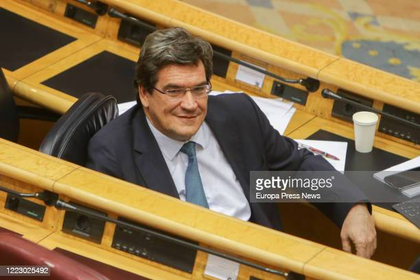 Security Social minister, José Luis Escrivá, is seen during the control session to the Government in the Senate on May 05, 2020 in Madrid, Spain.