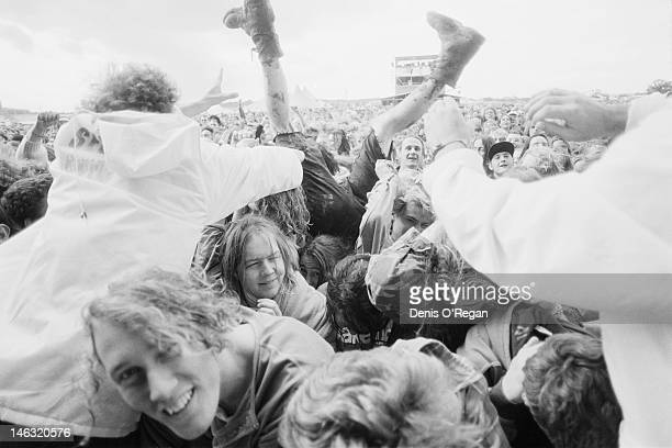 Security staff dealing with the audience at the Reading Festival 28th30th August 1992