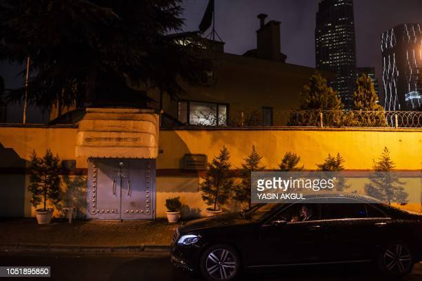 A security staff member guards the entrance of the Saudi Arabian consulate on October 11 2018 in Istanbul Jamal Khashoggi a Saudi Washington Post...