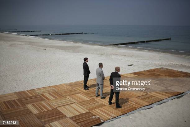 Security surrounding the 2007 G8 June 6 2007 in Heiligendamm northeastern Germany on the sidelines of the first day of the G8 Summit Merkel called on...