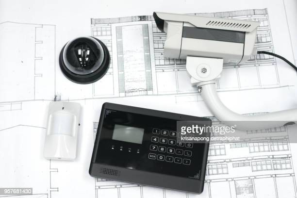 security system - computer system diagram stock photos and pictures