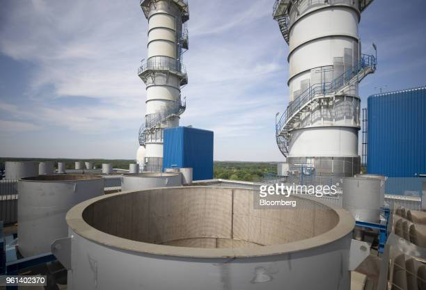Security valve outlets stand at the coal powered power plant operated by RWE AG in Lingen Germany on Tuesday May 22 2018 RWE is transforming to focus...