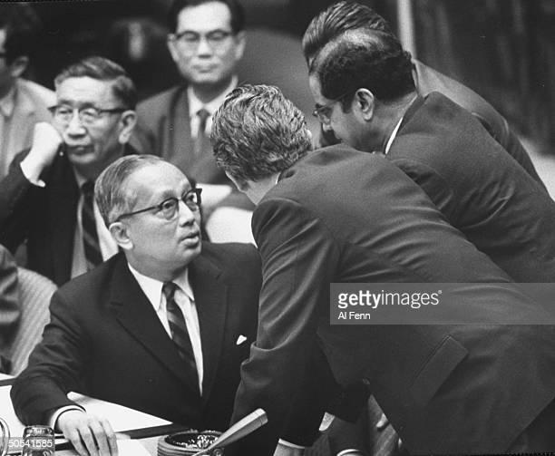 Sec'y-Gen. Thant U at Security Council Session re: Arab-Israeli war.