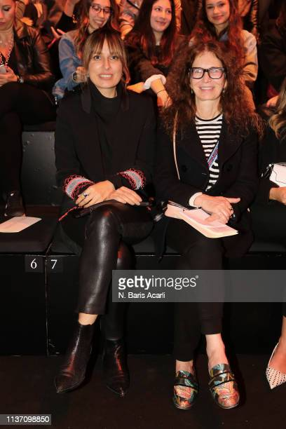 Seda Domanic and Tiziana Cardini attend the MercedesBenz Fashion Week Istanbul March 2019 at Zorlu Center on March 20 2019 in Istanbul Turkey
