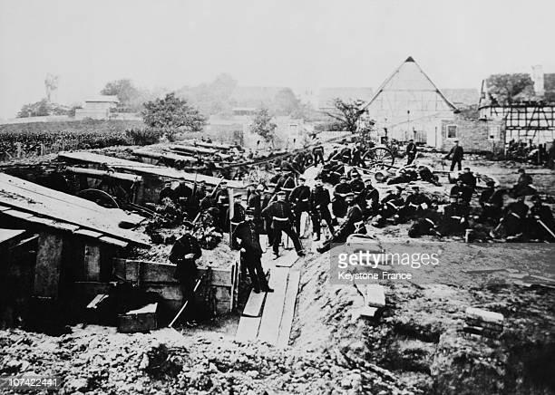 Sedan Battle, Prussian Infantry During Siege Os Strasbourg In France On 1870