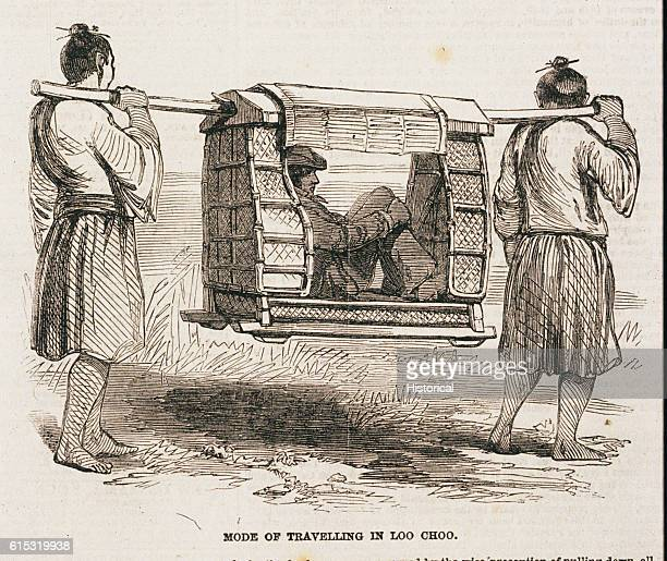 A sedan chair was a common form of transport on Loo Choo island for there were few horses and those used by the Mandarins of the region Loo Choo was...