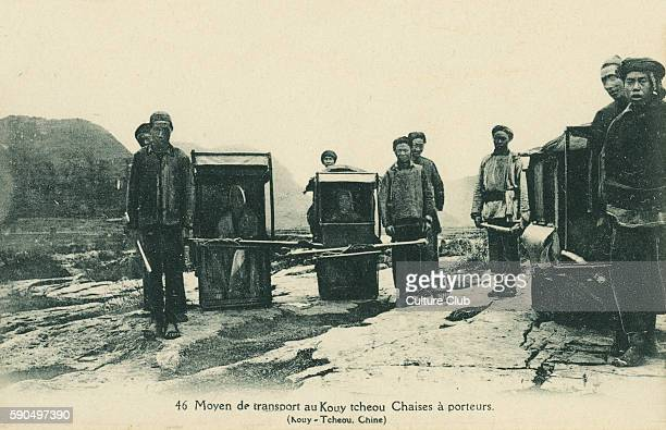 Sedan chairs and bearers KouyTcheou China