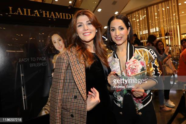 Sedef Ayguen and Laila Hamidi attend the 'Easy to pack brushes' launch by Laila Hamidi at Breuninger on March 16 2019 in Duesseldorf Germany