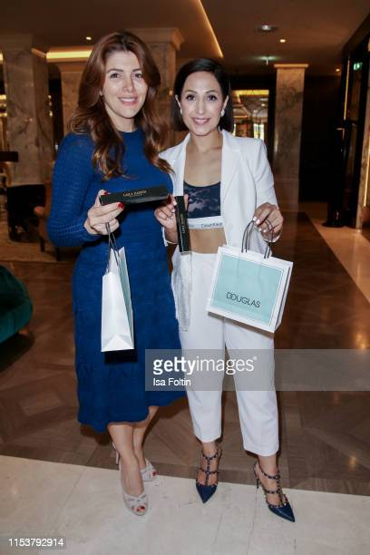 Sedef Ayguen and Laila Hamidi during the Fashion Tea Time at Titanic Deluxe Hotel on July 4, 2019 in Berlin, Germany.