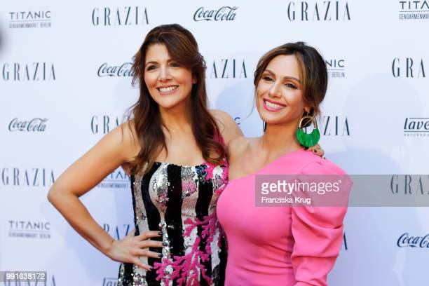 Sedef Ayguen and Nazan Eckes during the GRAZIA Pink Hour at Titanic Hotel on July 4 2018 in Berlin Germany