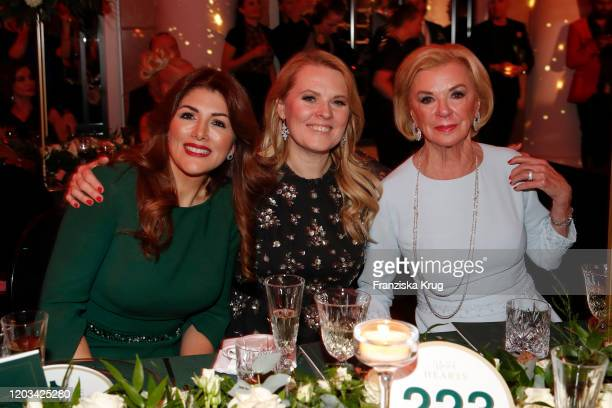 Sedef Ayguen Maria Patricia Kelly and Liz Mohn during the Titanic United Hearts at Titanic Hotel on February 25 2020 in Berlin Germany