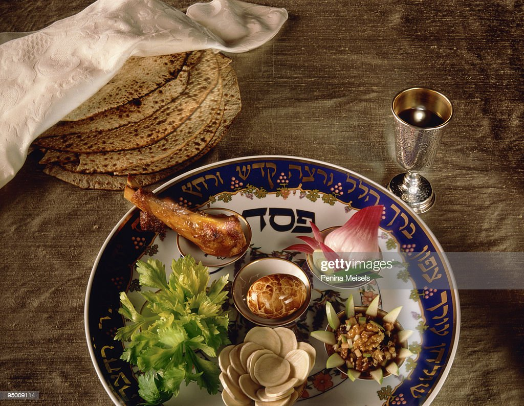 Seder plate : Stock Photo