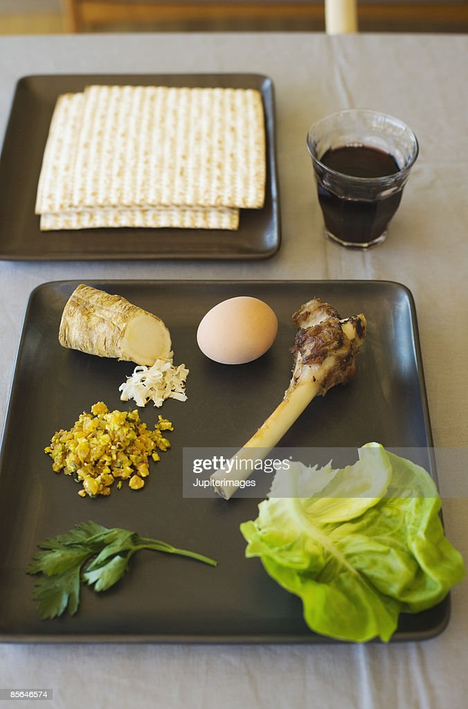 Seder ritual foods : Stock Photo