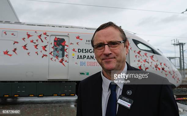 Sedgefield MP, Phil Wilson stands next to the new Intercity Express Train during a visit to the Hitachi Rail Europe site on December 9, 2016 in...