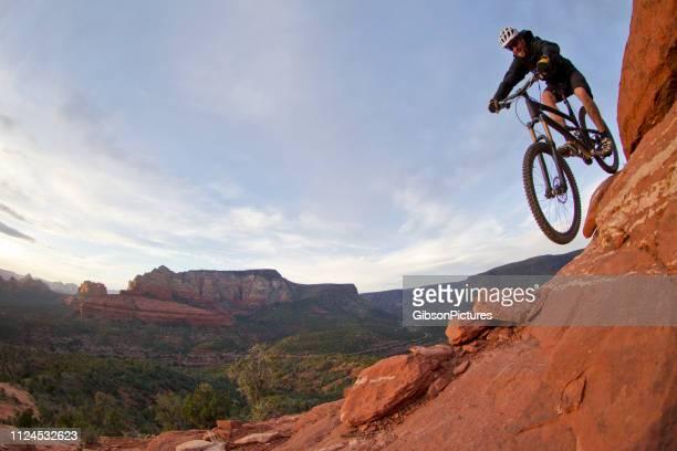sedona arizona hangover trail - mountain biking stock pictures, royalty-free photos & images