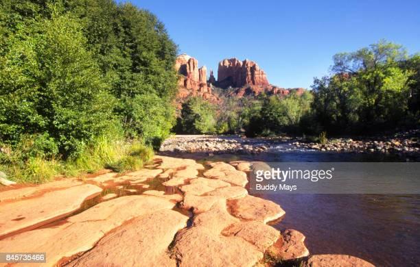 sedona, arizona landscape - oak creek canyon - fotografias e filmes do acervo