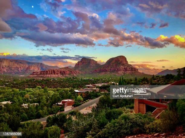 sedona arizona magic hour - arizona stock pictures, royalty-free photos & images