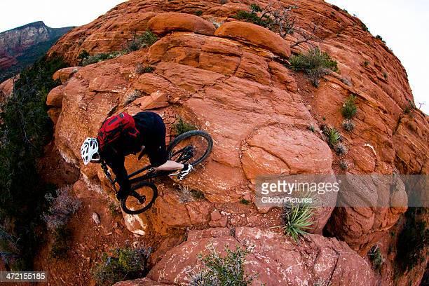 sedona mountain biking - red_rock,_nevada stock pictures, royalty-free photos & images