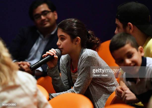Sedra Alhalabi attends panel discussion for 'This is Home A Refugee Story' New York Premier Screening at Crosby Street Hotel on May 16 2018 in New...