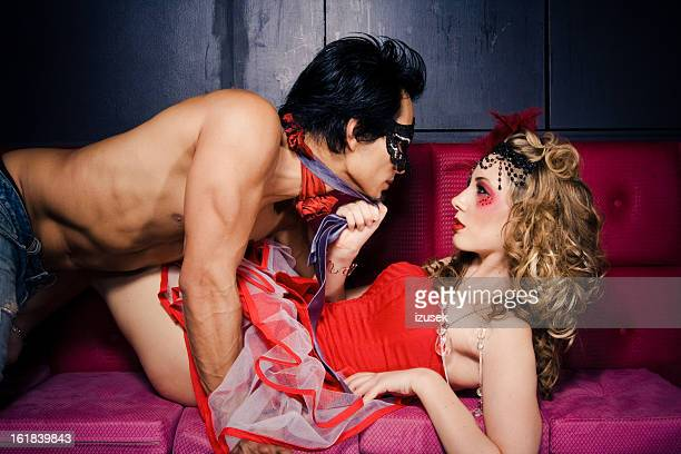 seduction - freaky couples stock photos and pictures