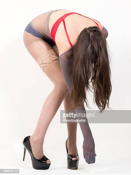 seduction - nylon feet stock photos and pictures