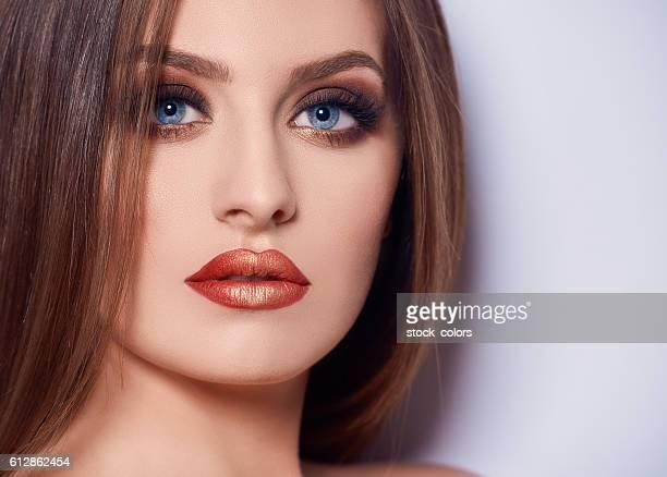 seductive look of fashion model