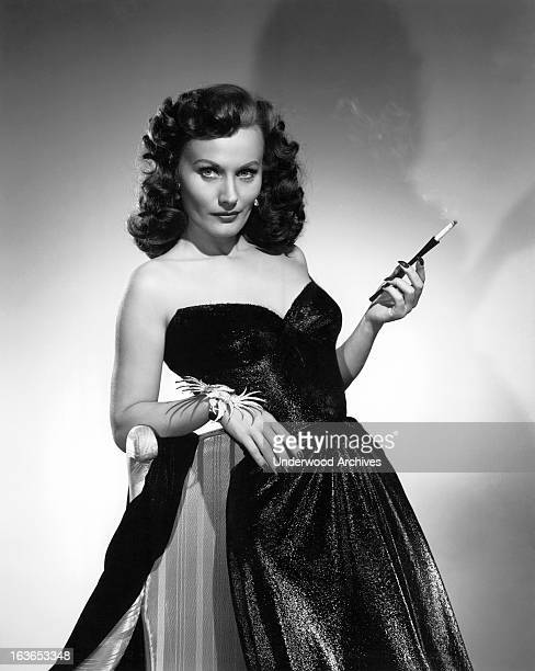 Seductive looking actress Florence Marly brings glamour to her role as Humphrey Bogart's love in 'Tokyo Joe' Hollywood California 1949