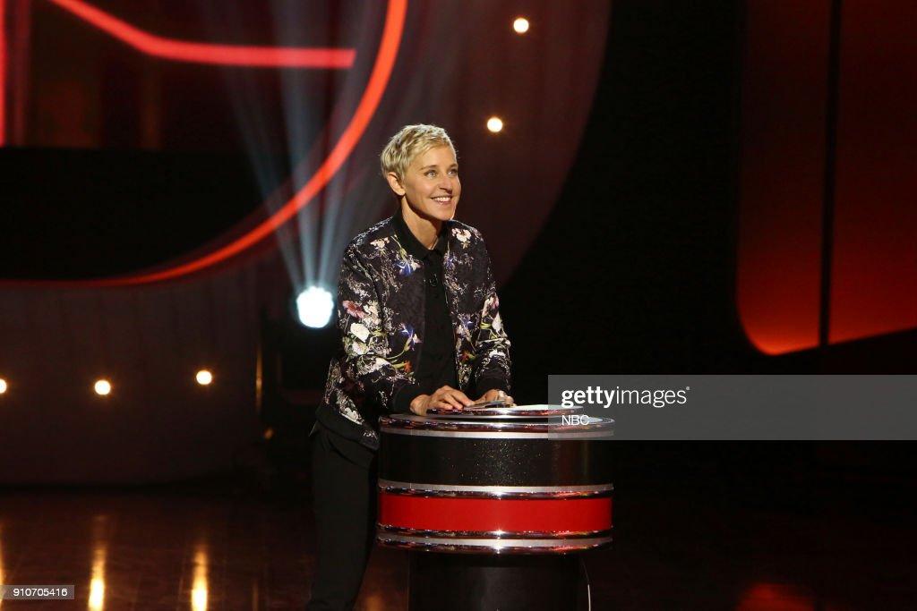 S GAME OF GAMES -- 'I See Dizzy People' Episode 101 -- Pictured: Ellen DeGeneres --