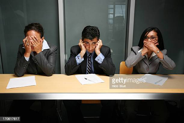 see, hear, speak no evil - see no evil hear no evil speak no evil stock pictures, royalty-free photos & images