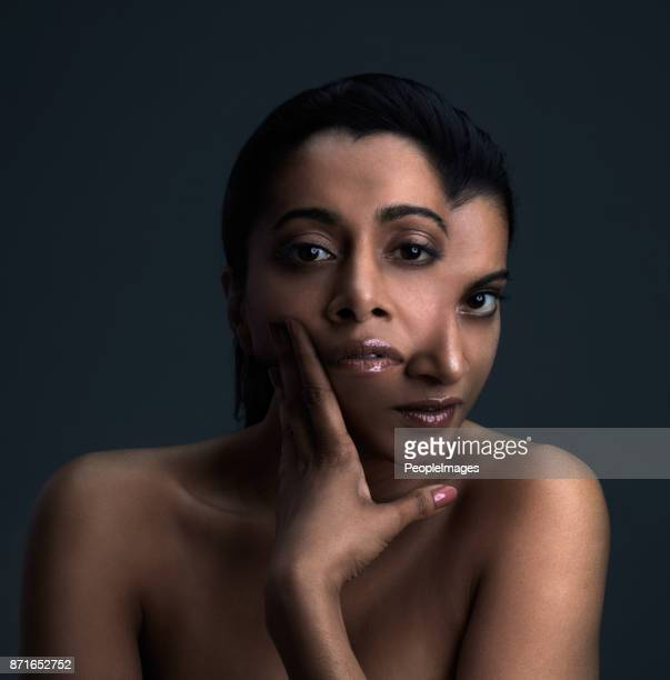 see her beauty twice - layers of skin stock pictures, royalty-free photos & images