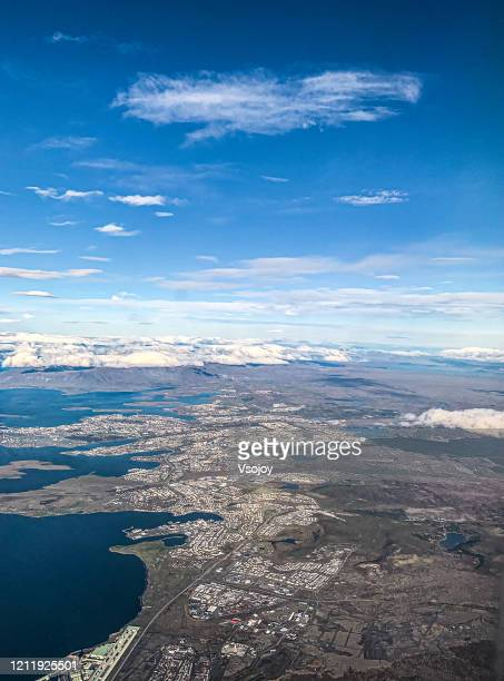 see iceland from the sky i - vsojoy stock pictures, royalty-free photos & images